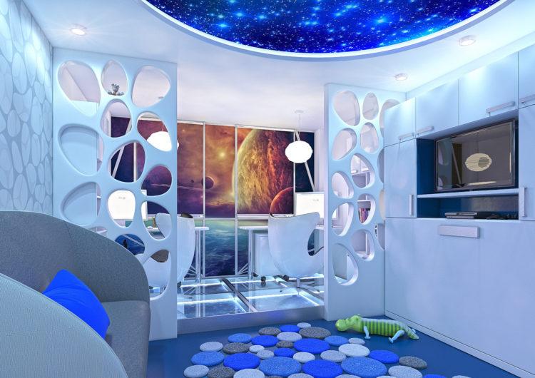 Просто космос: 15 предметов и интерьеров, вдохновлённых бескрайней Вселенной